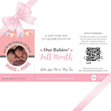 Sweetest Moments Baby Full Month Personalised E-Voucher Twin Girls