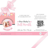 Sweetest Moments Baby Full Month Personalised E-Voucher Girl