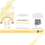 Sweetest Moments Baby Full Month Standard E-Voucher Twins