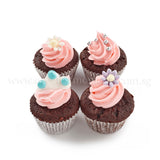 CM03 Mini Princess sweetest moments full month cupcakes moist chocolate buttercream