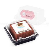 BTI02 Personalise Say It With Brownies (Individually-Packed) Sweetest Moments Thank You Edible Image Door Gifts Birthday