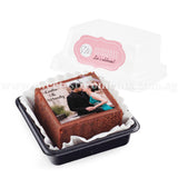 BTI02 Personalise Say It With Brownies (Individually-Packed) Sweetest Moments Thank You Edible Image Door Gifts Wedding