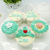 CF01 Small Wonders Sweetest Moments Full Month Standard Cupcake Buttercream Blue