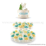 CKX01 Snowy Cupcake Tree CKR28 Snowy Alps CK07 Let It Snow Sweetest Moments Birthday Cake Buttercream Fondant 3 Tier