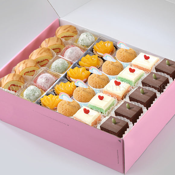 tea party set ac16 all-star treats swiss roll mochi peachy tart mini muffin pastel cube brownie sweetest moments