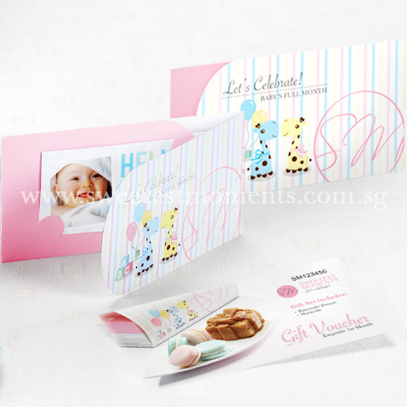VA02 Exquisite 1st Month Gift Voucher Full Month Package Sweetest Moments Macarons Cake Present