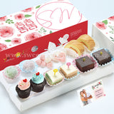 WE09 Lovely Classic Wedding Guo Da Li Package Sweetest Moments Swiss Rolls Heart-Candy Packs Mochi Brownies Pastel Cubes Mini Cupcakes Romantic Blooms