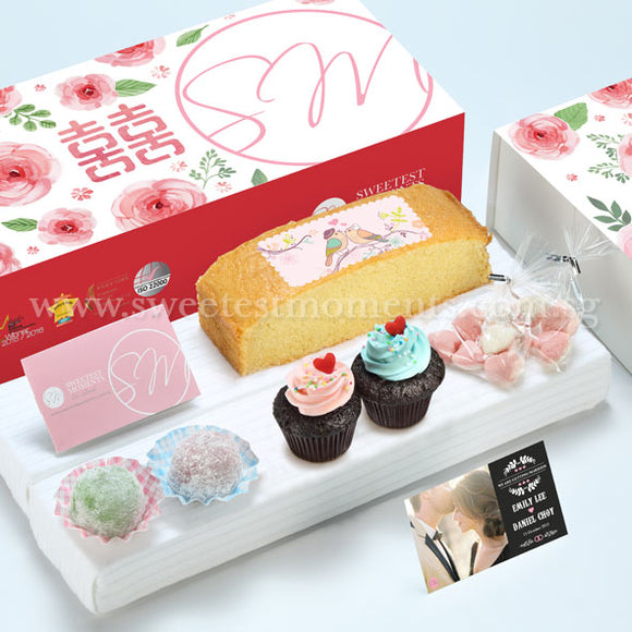 WE10 Everlasting Classic Wedding Guo Da Li Package Sweetest Moments Butter Cake Heart-Candy Packs Mini Cupcakes Mochi Romantic Blooms
