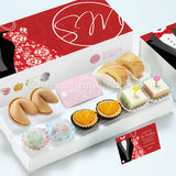 WE14 Whimsical Classic Wedding Guo Da Li Package Swiss Rolls 旺旺 Cookies Pastel Cubes Peachy Tarts Mochi Tux & Gown