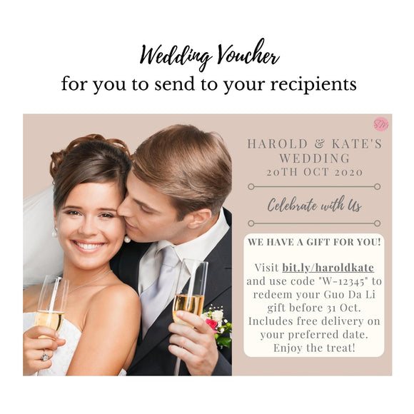 VWD Wedding Voucher with Doorstep Delivery