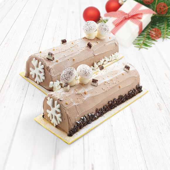 COR10 Classic Yule Log Sweetest Moments Cake chocolate vanilla sponge