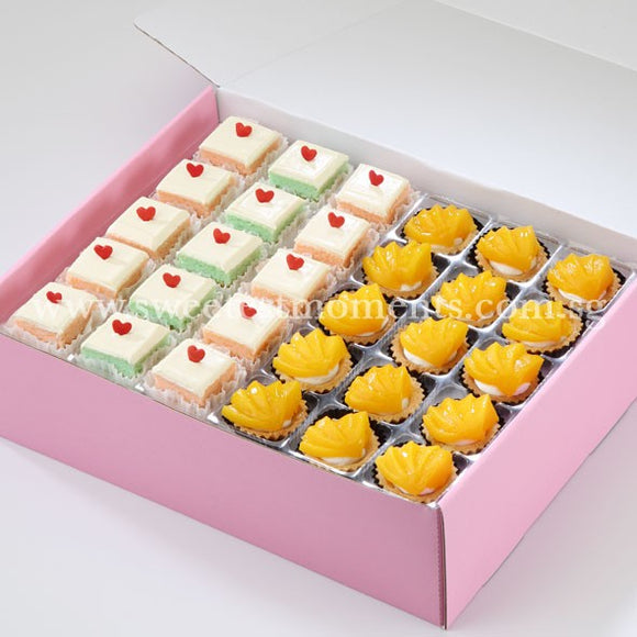 AC08 Modern Treats 5 Tea Party Sets Sweetest Moments Peachy Tarts Pastel Cubes
