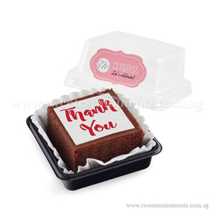 BTI01 Say It With Brownies (Individually-Packed) Sweetest Moments Thank You Edible Image Corporate Door Gifts