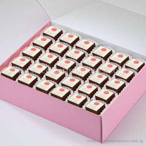 BTS02 Personalise Say It With Brownies Tea Party Sets Sweetest Moments Edible Image Corporate