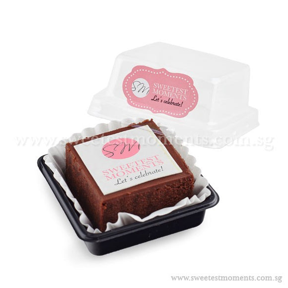 BTI02 Personalise Say It With Brownies (Individually-Packed) Sweetest Moments Thank You Edible Image Door Gifts Corporate
