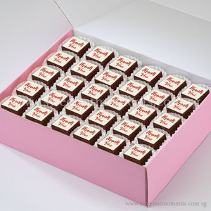 BTS01 Say It With Brownies Tea Party Sets Sweetest Moments Edible Image Thank You Corporate