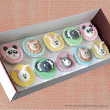 CL01 Bunny & Friends Sweetest Moments Birthday Full Month Standard Cupcake Fondant Box of 10