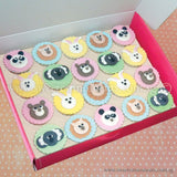 CL01 Bunny & Friends Sweetest Moments Birthday Full Month Standard Cupcake Fondant Box of 20