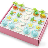 CK04 Beach Theme Sweetest Moments Full Month Standard Cupcake Buttercream Fondant Box of 20