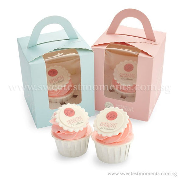 CTI02 Personalise Say It With Cupcakes Sweetest Moments Corporate Standard Cupcake Buttercream Fondant Edible Image Thank You Message Door Gifts Individually-Packed