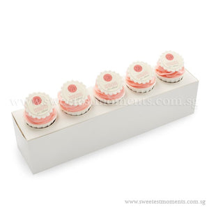 CT02 Personalise Say It With Cupcakes Sweetest Moments Corporate Standard Cupcake Buttercream Fondant Edible Image Personalised Message Box of 5