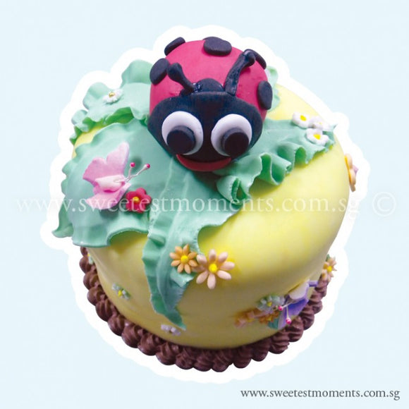 CKR01 D'Ladybird Sweetest Moments Birthday Cake Fondant