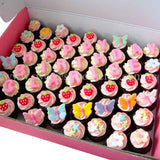 CM05 Mini Girl Sweetest Moments Full Month Mini Cupcake Buttercream Fondant Box of 54