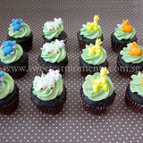 CM02 Mini Safari Sweetest Moments Full Month Mini Cupcake Buttercream Fondant