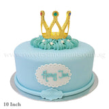 CKR26 Royal Prince sweetest moments standard cake 10 inch moist chocolate red velvet fondant