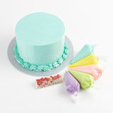 DIY02 DIY Cake Set sweetest moments moist chocolate red velvet handcraft piping bags mini sprinkles blue colour