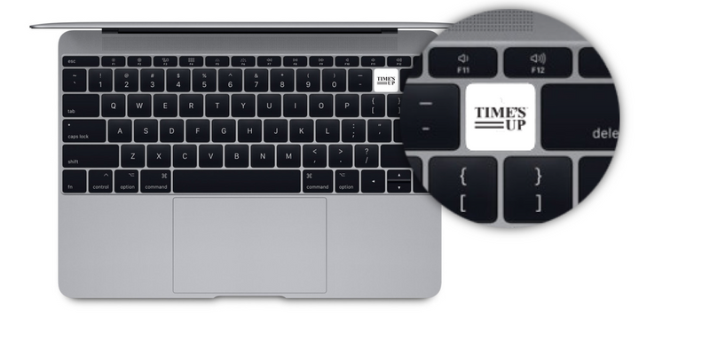 TIME'S UP Keyboard Sticker