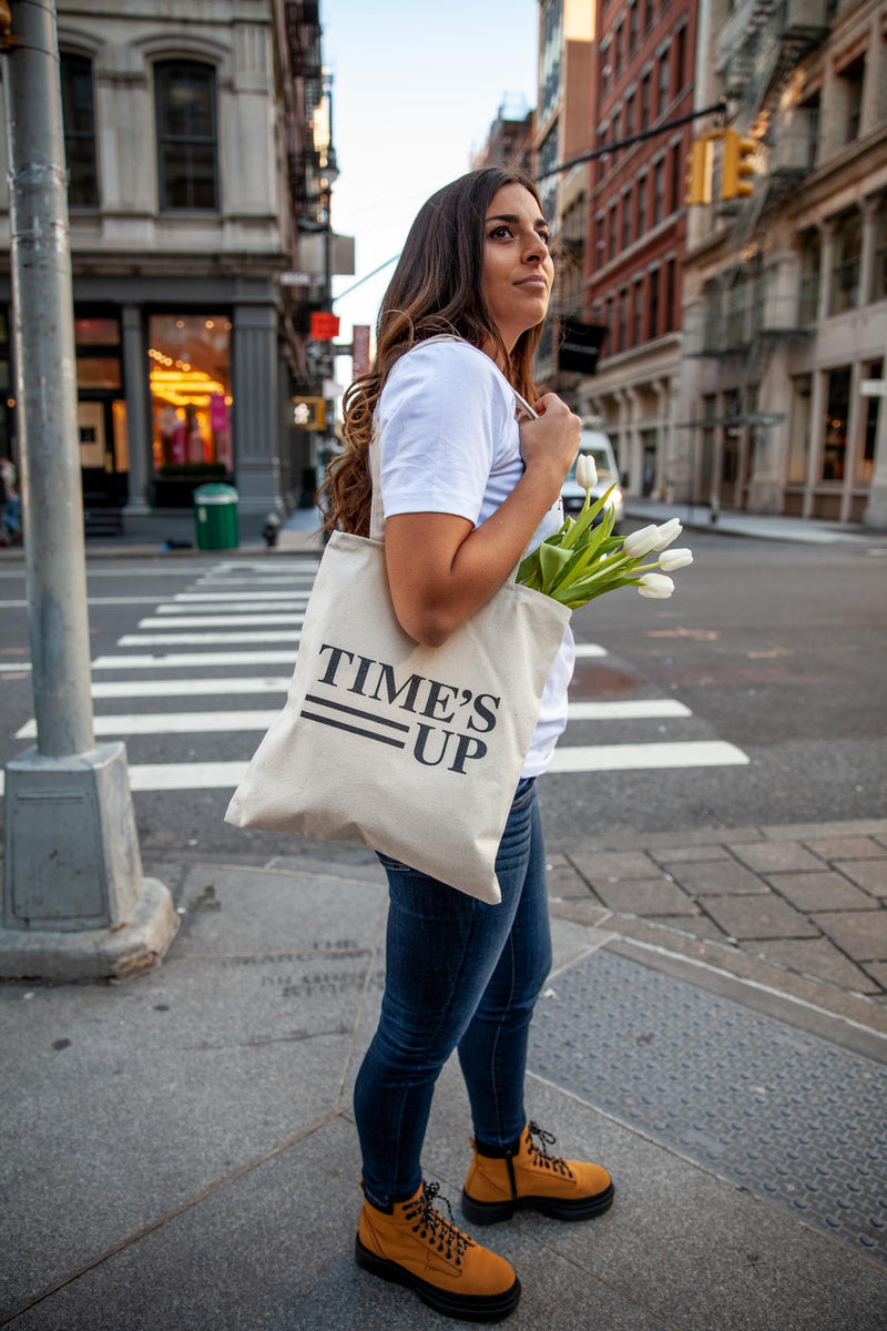TIME'S UP Canvas Tote Bag