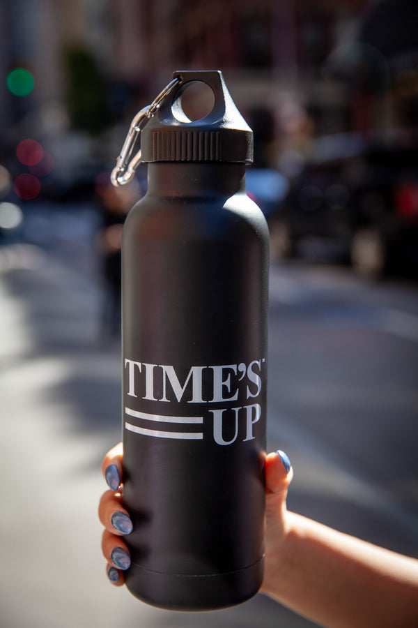 Time's Up Aluminum Water Bottle