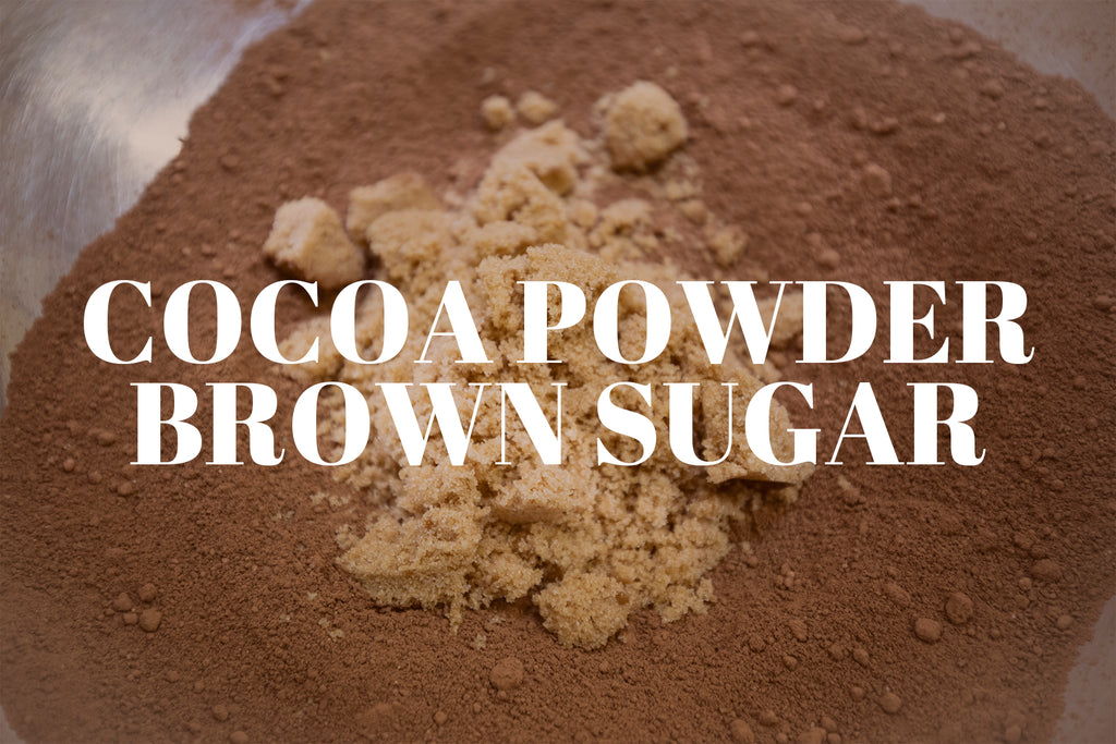 cocoa powder brown sugar