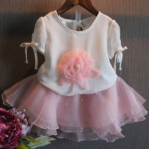 Margot Tutu Pearl and Flower Set