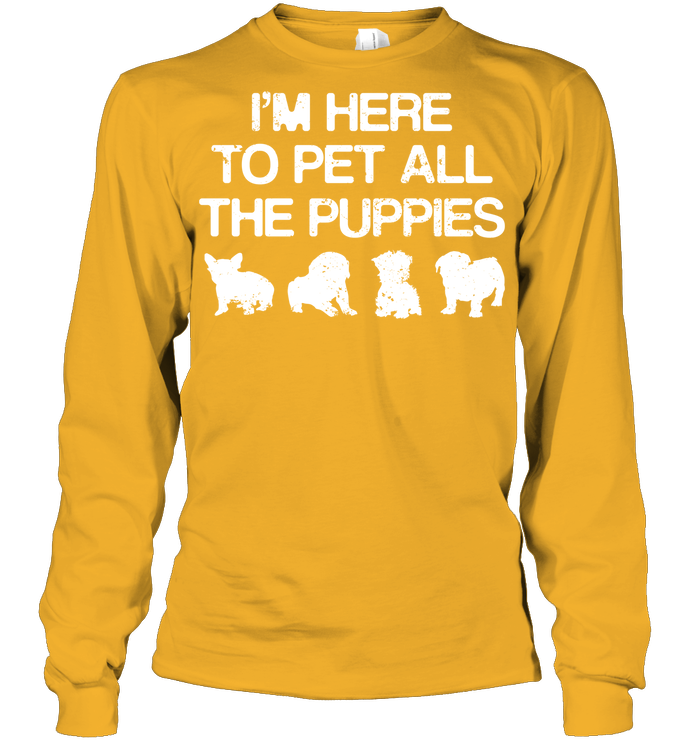 Long Sleeve - 'Pet The Puppies' Long Sleeves