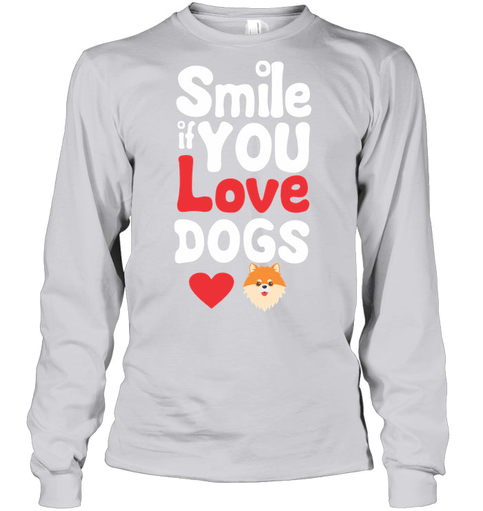 Long Sleeve - 'Smile If You Love Dogs' Long Sleeves