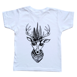 The Kingston Deer Tee in White