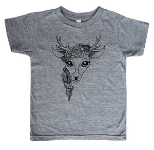 The Havannah Deer Tee in Tri-Blend Grey