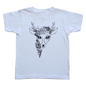 The Havannah Deer Tee in White