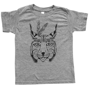 The Journey Rae Lynx Tee in Tri-Blend Grey