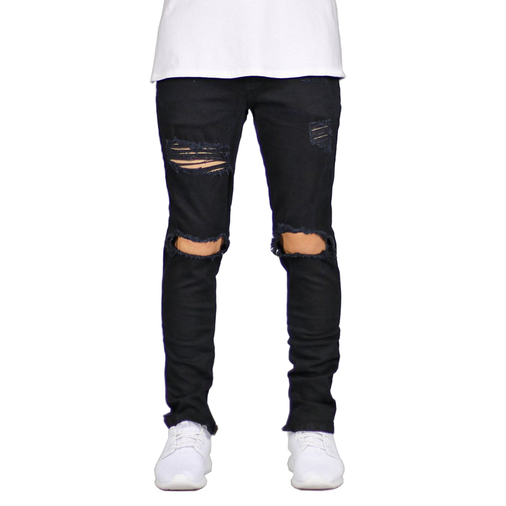 Ankle Zipper Ripped  Jeans - Kings Of Everything