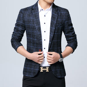 Plaid Casual Blazer - Kings Of Everything