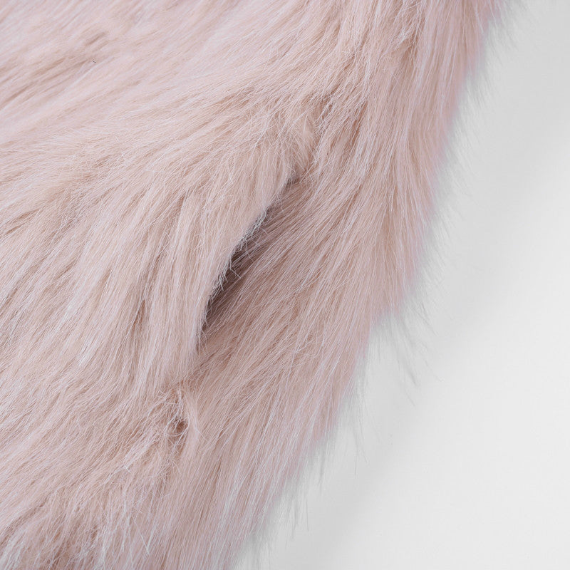 Casual furry faux fur coat