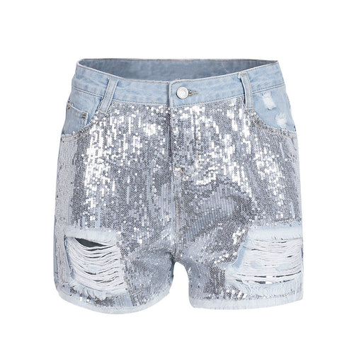 Denim hole sexy jeans shorts