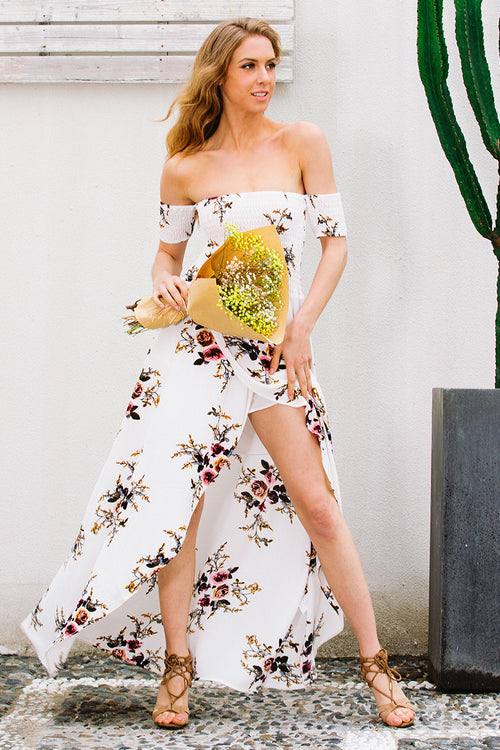 long Off shoulder beach dress