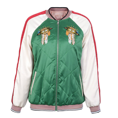 Embroidery padded jacket
