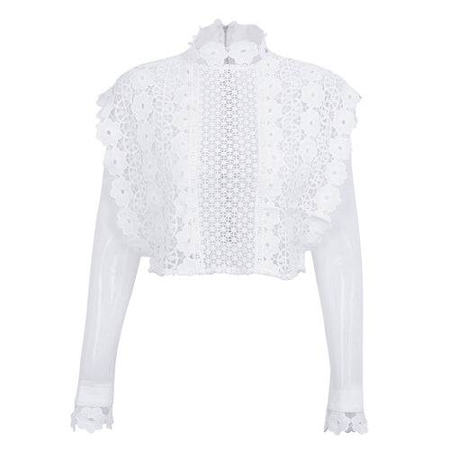 Hollow out mesh shirt