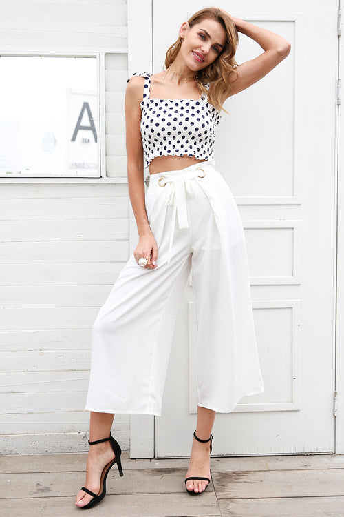 Casual elastic tie up straps crop top
