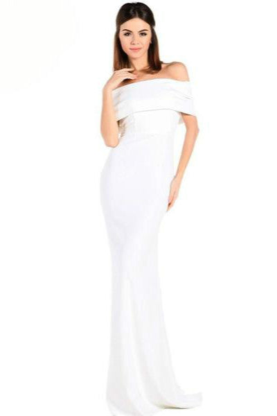 Backless off shoulder elegant dress